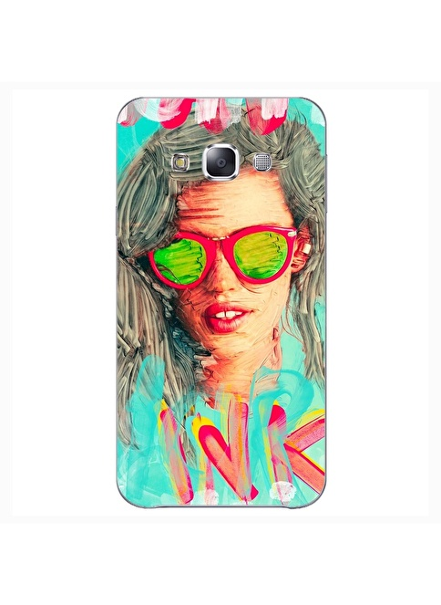 People's Cover Samsung E5 Kabartmalı Kapak Renkli
